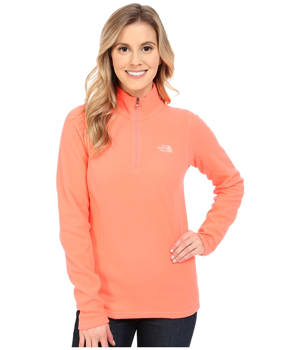 The North Face - Glacier 1/4 Zip (Tropical Coral) Women's Sweatshirt