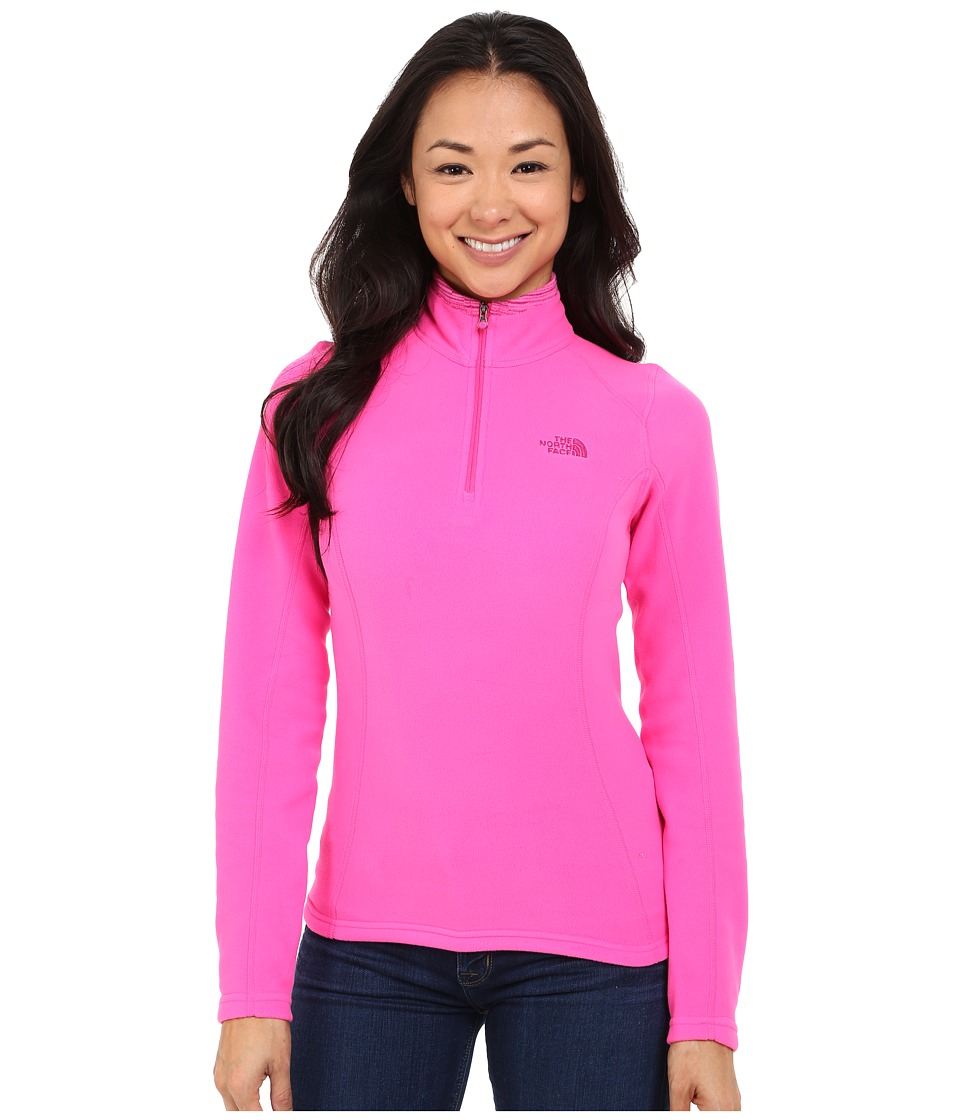 The North Face - Glacier 1/4 Zip (Glo Pink) Women's Sweatshirt