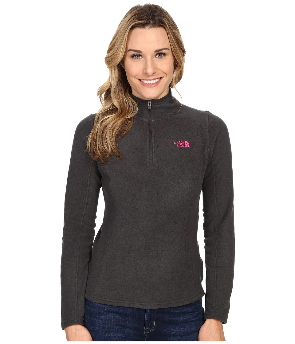 The North Face - Glacier 1/4 Zip (TNF Dark Grey Heather) Women's Sweatshirt