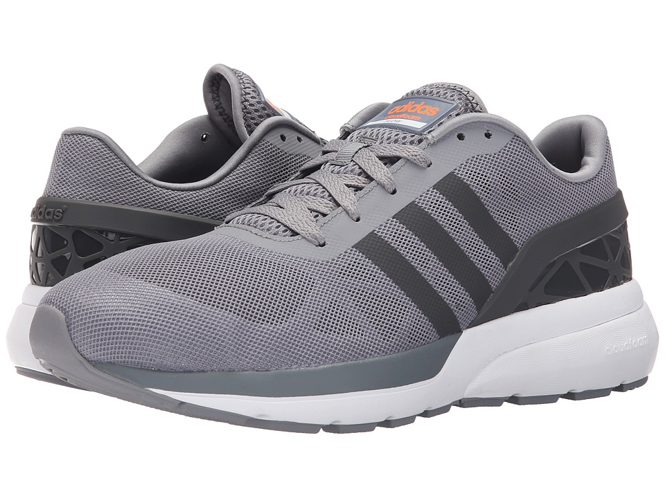 adidas Cloudfoam Flow (Grey/Solid Grey/Solar Orange) Men