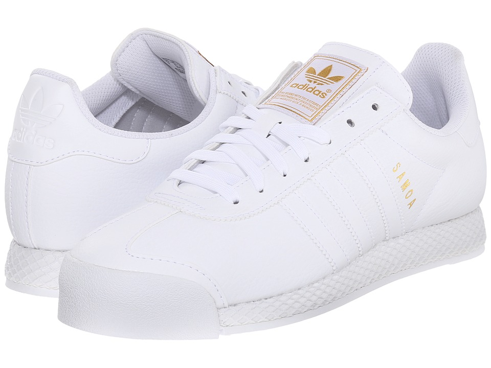 adidas Originals - Samoa - Premium (White/White/Gold Metallic) Men's Shoes
