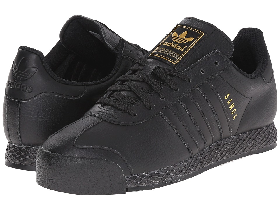 adidas Originals - Samoa - Premium (Black/Black/Gold Metallic) Men's Shoes