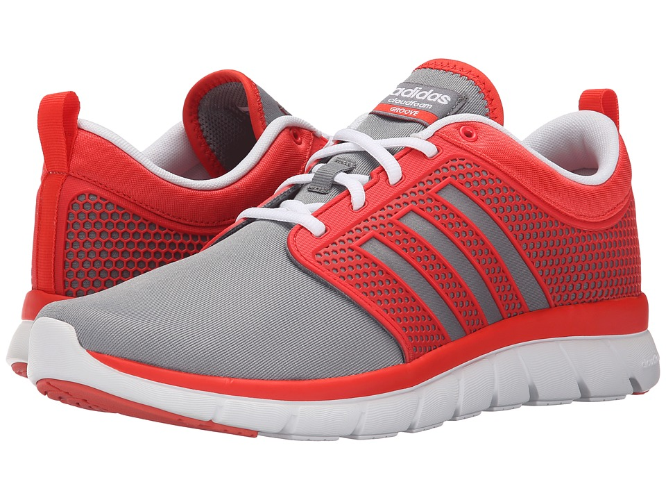 adidas - Cloudfoam Groove (Bright Red/Grey/White) Men's Running Shoes