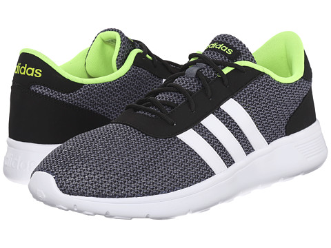 adidas - Lite Racer (Core Black/White/Solar Yellow) Men's Shoes