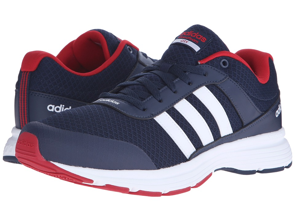 adidas Cloudfoam VS City (Collegiate Navy/White/Power Red) Men