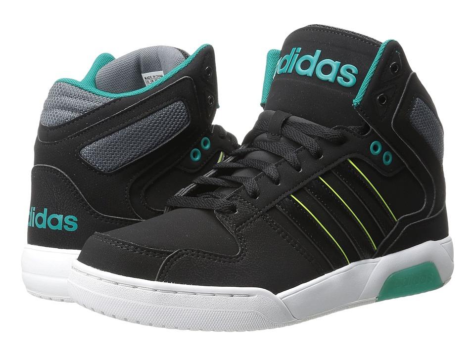 adidas - BB9TIS Mid (Core Black/Core Black/EQT Green) Men's Basketball Shoes