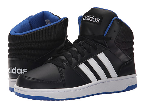 adidas - Hoops VS Mid (Core Black/White/Blue) Men's Shoes