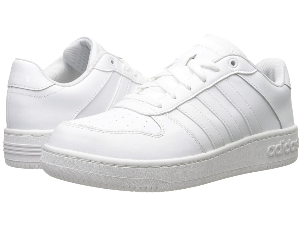 adidas - Team Court (White/White/Matte Silver) Men's Basketball Shoes