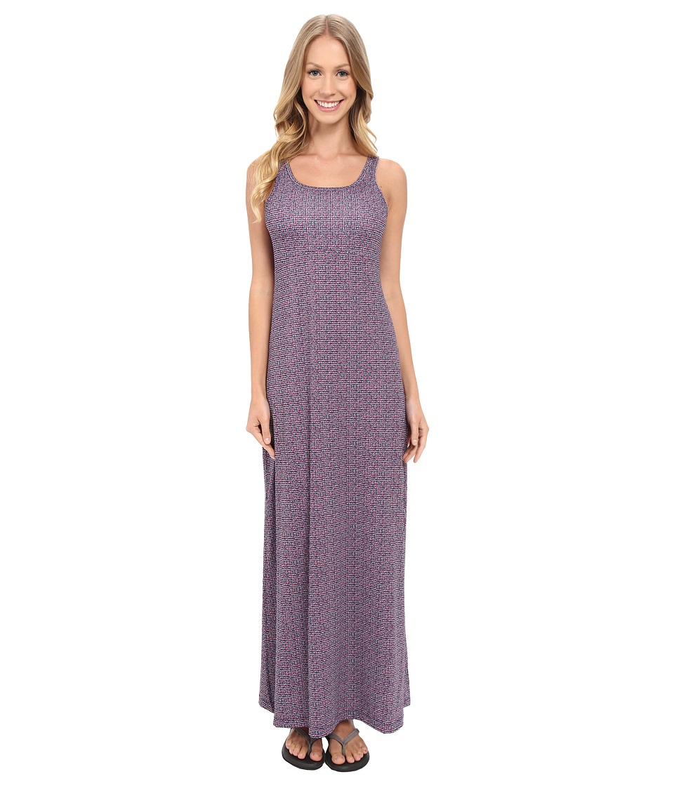 Columbia - Freezer Maxi Dress (Collegiate Navy Mosaic Dot) Women's Dress