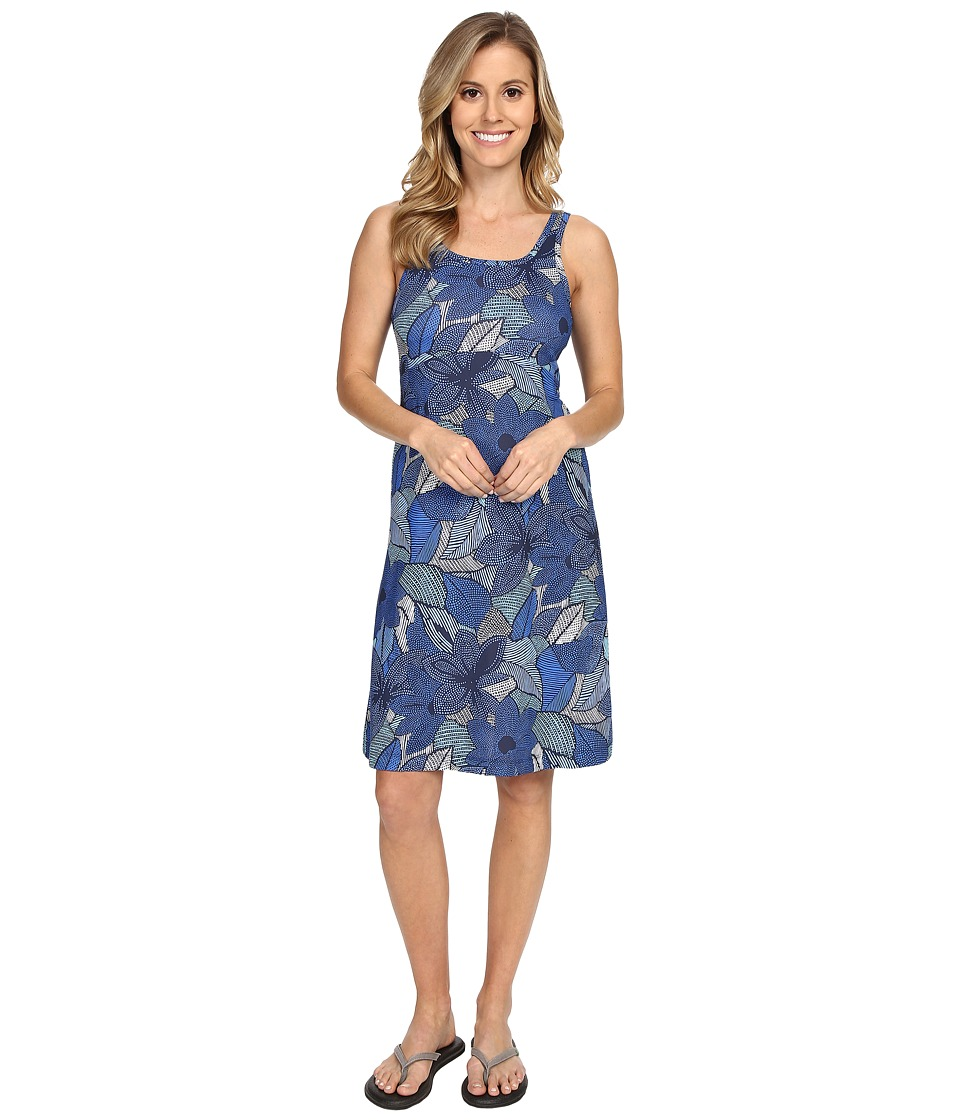 Columbia - Freezer III Dress (Stormy Blue Dot Floral) Women's Dress