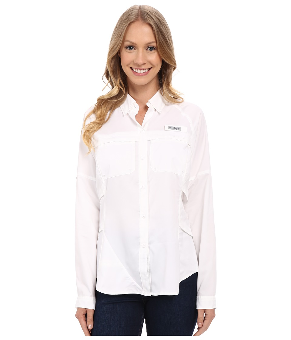 Columbia - Airgal Long Sleeve Shirt (White) Women's Long Sleeve Button Up