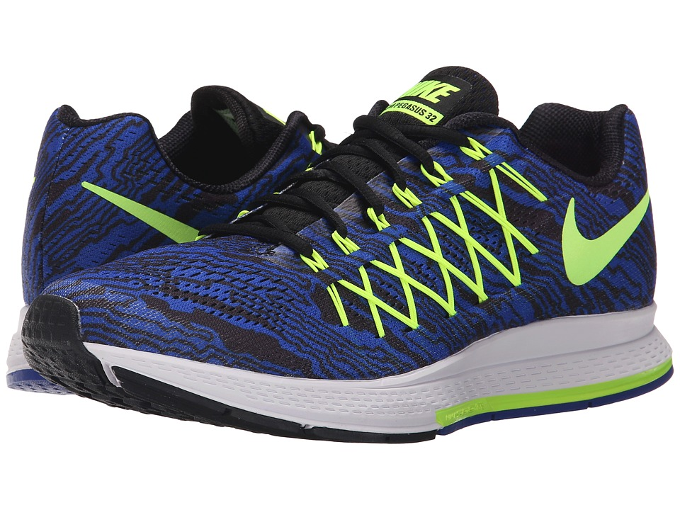 Nike - Air Zoom Pegasus 32 Print (Racer Blue/Volt) Men's Running Shoes