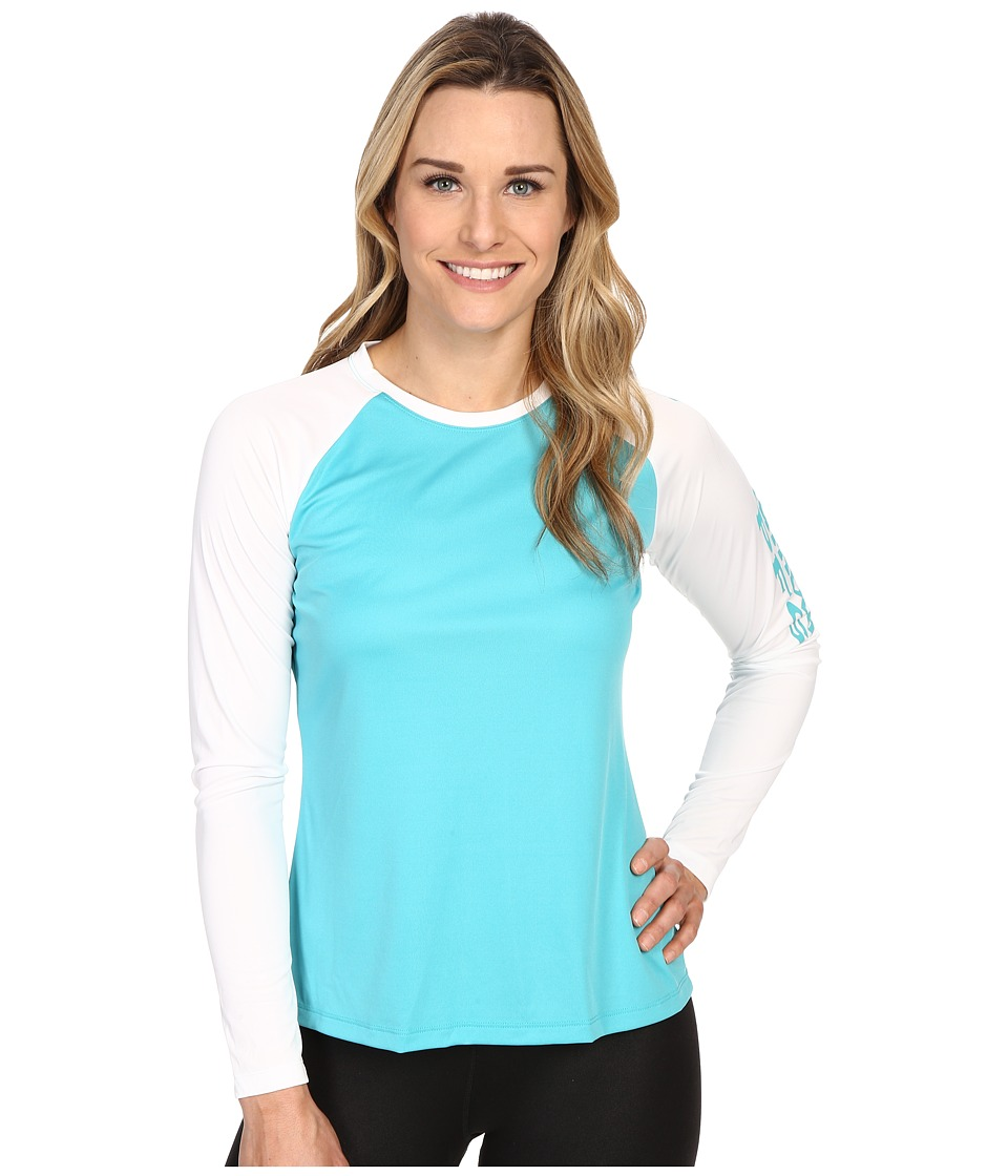 Columbia - Tidal Tee II L/S (Miami/White) Women's Long Sleeve Pullover