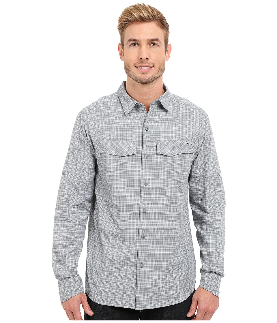 Columbia - Silver Ridge Plaid L/S (Grey Ash Dobby Plaid) Men's Long Sleeve Button Up