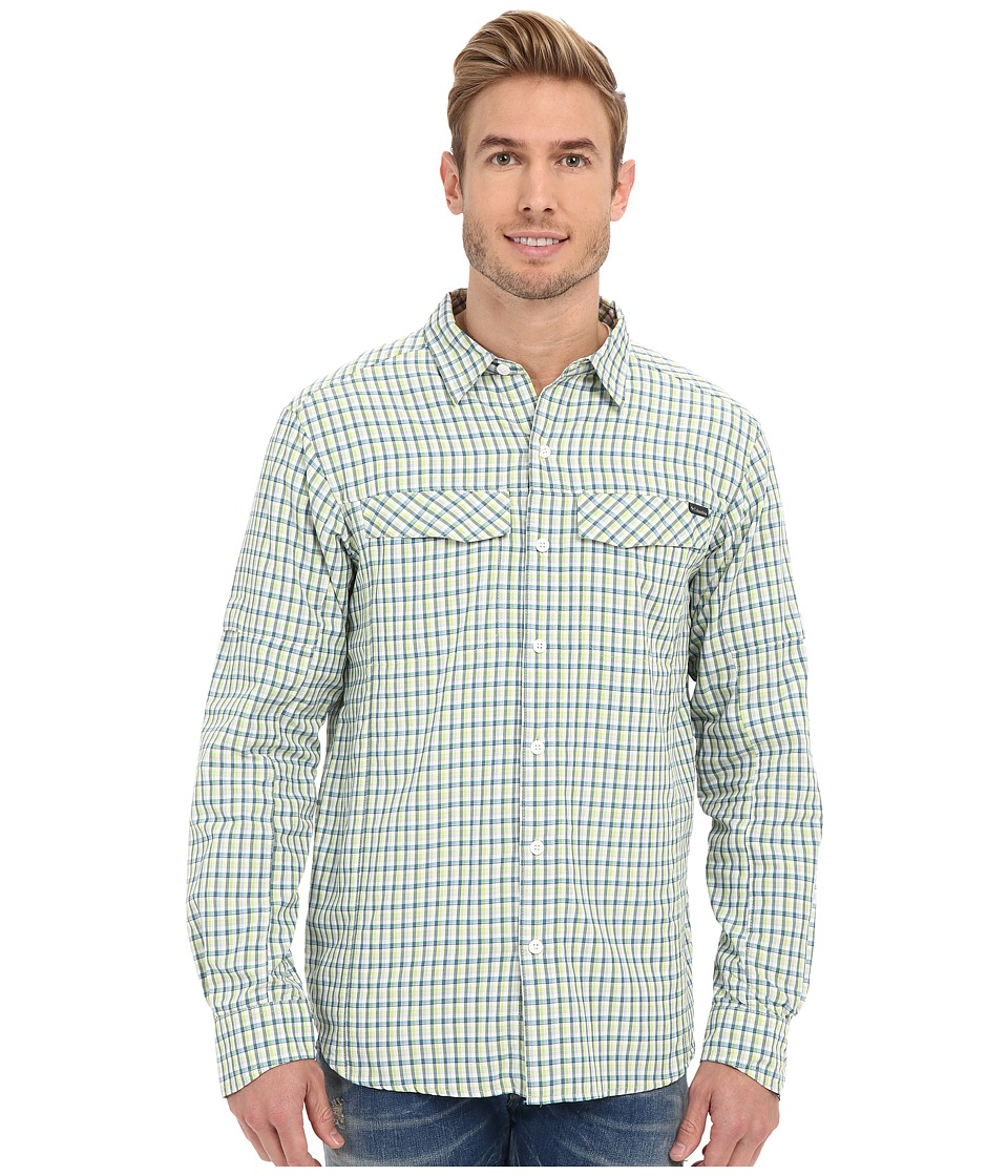 Columbia - Silver Ridge Plaid L/S (Napa Green Ripstop Plaid) Men's Long Sleeve Button Up