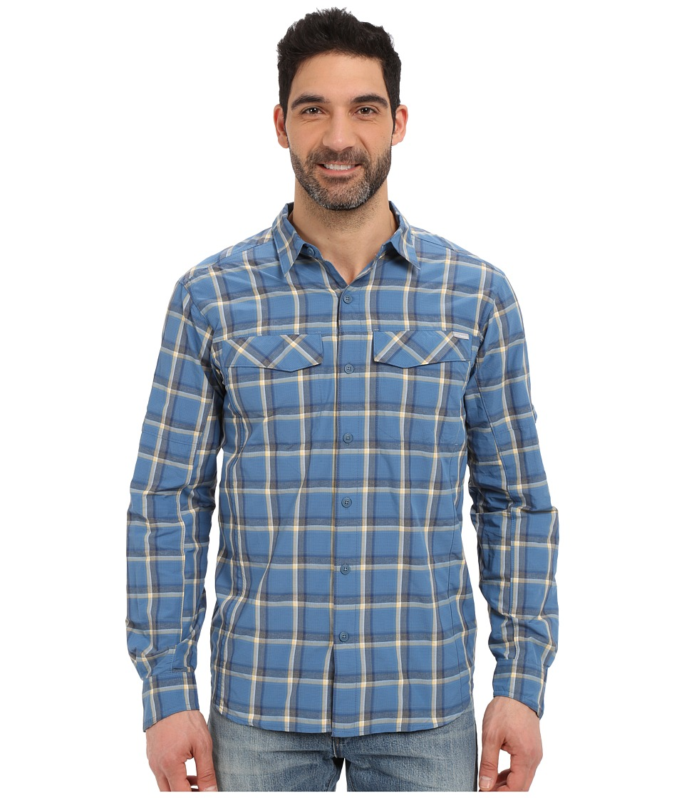 Columbia - Silver Ridge Plaid L/S (Marine Blue Heather Plaid) Men's Long Sleeve Button Up