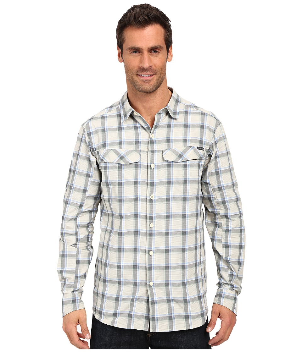 Columbia - Silver Ridge Plaid L/S (Stone Heather Plaid) Men's Long Sleeve Button Up