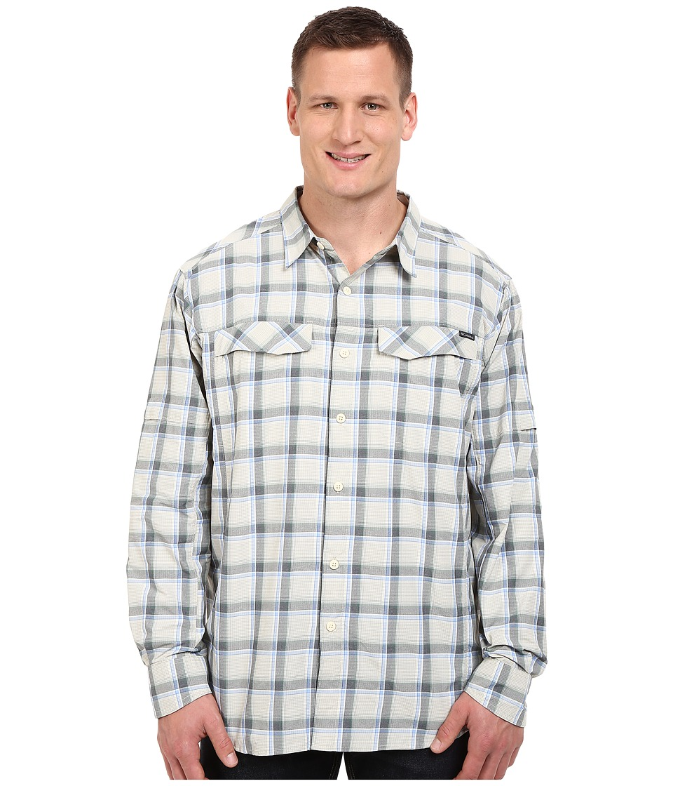 Columbia - Silver Ridge Plaid L/S - Big (Stone Heather Plaid) Men's Long Sleeve Button Up
