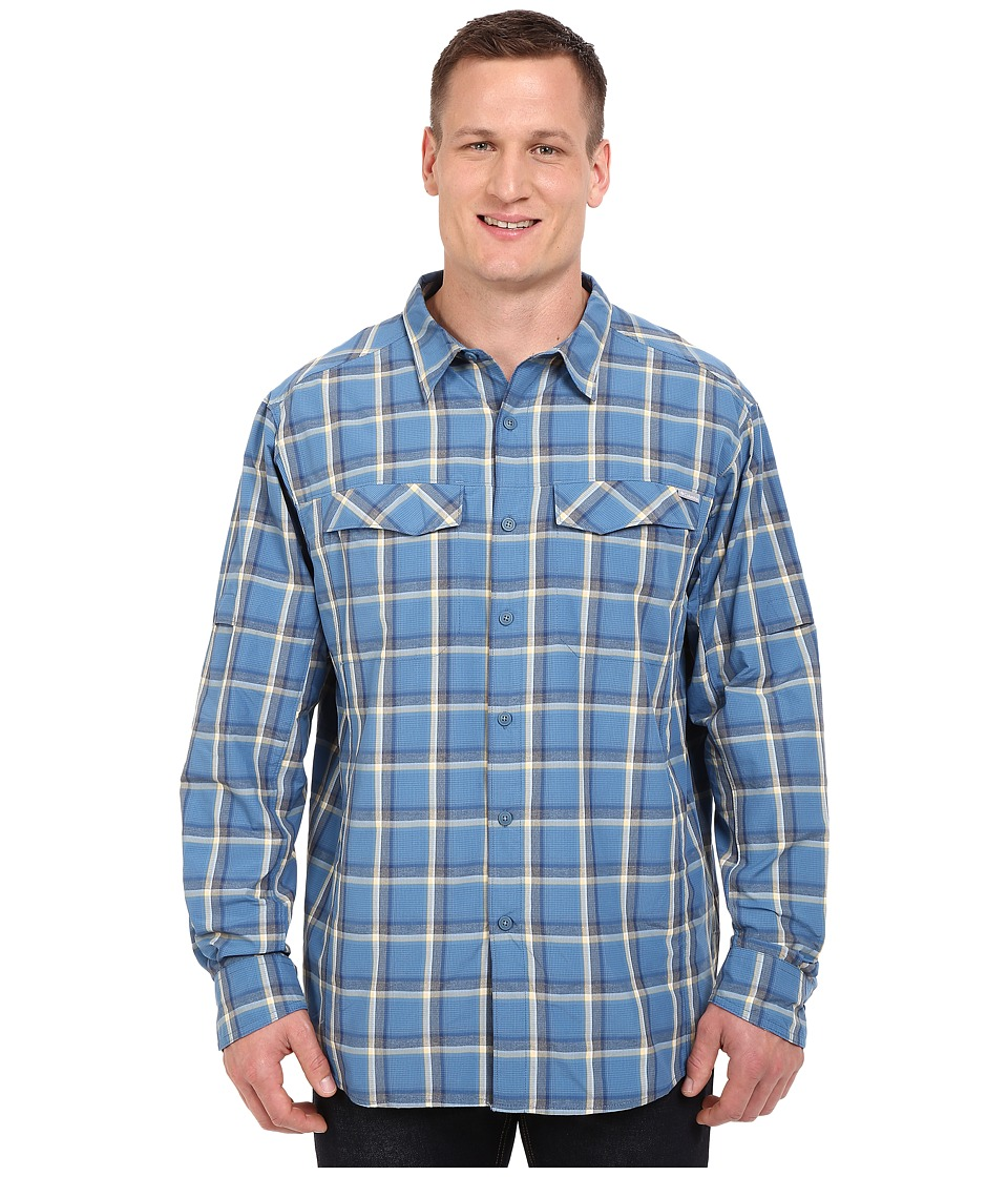 Columbia - Silver Ridge Plaid L/S - Big (Marine Blue Heather Plaid) Men's Long Sleeve Button Up