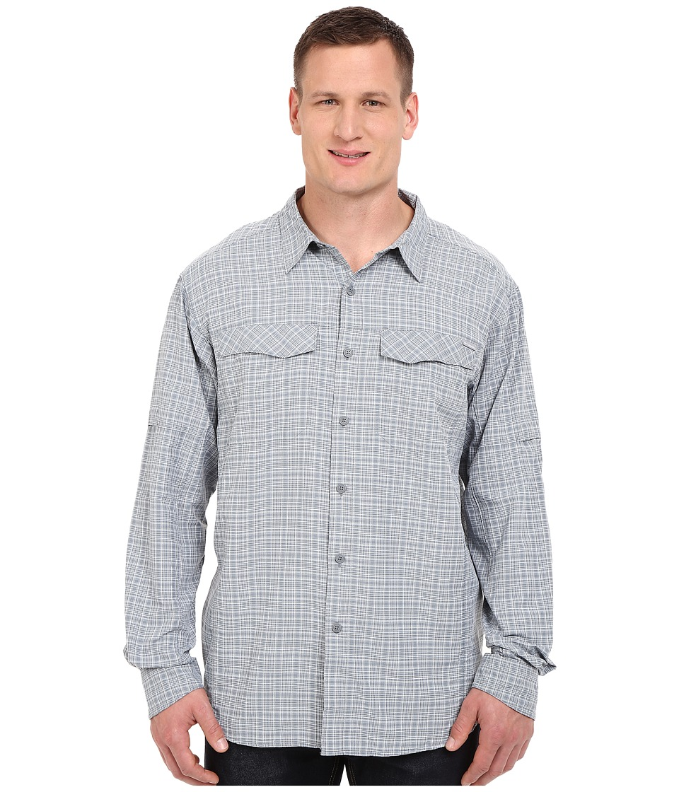 Columbia - Silver Ridge Plaid L/S - Big (Grey Ash Dobby Plaid) Men's Long Sleeve Button Up