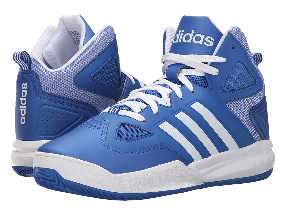 adidas - Cloudfoam Thunder Mid (Blue/White/White) Men's Basketball Shoes