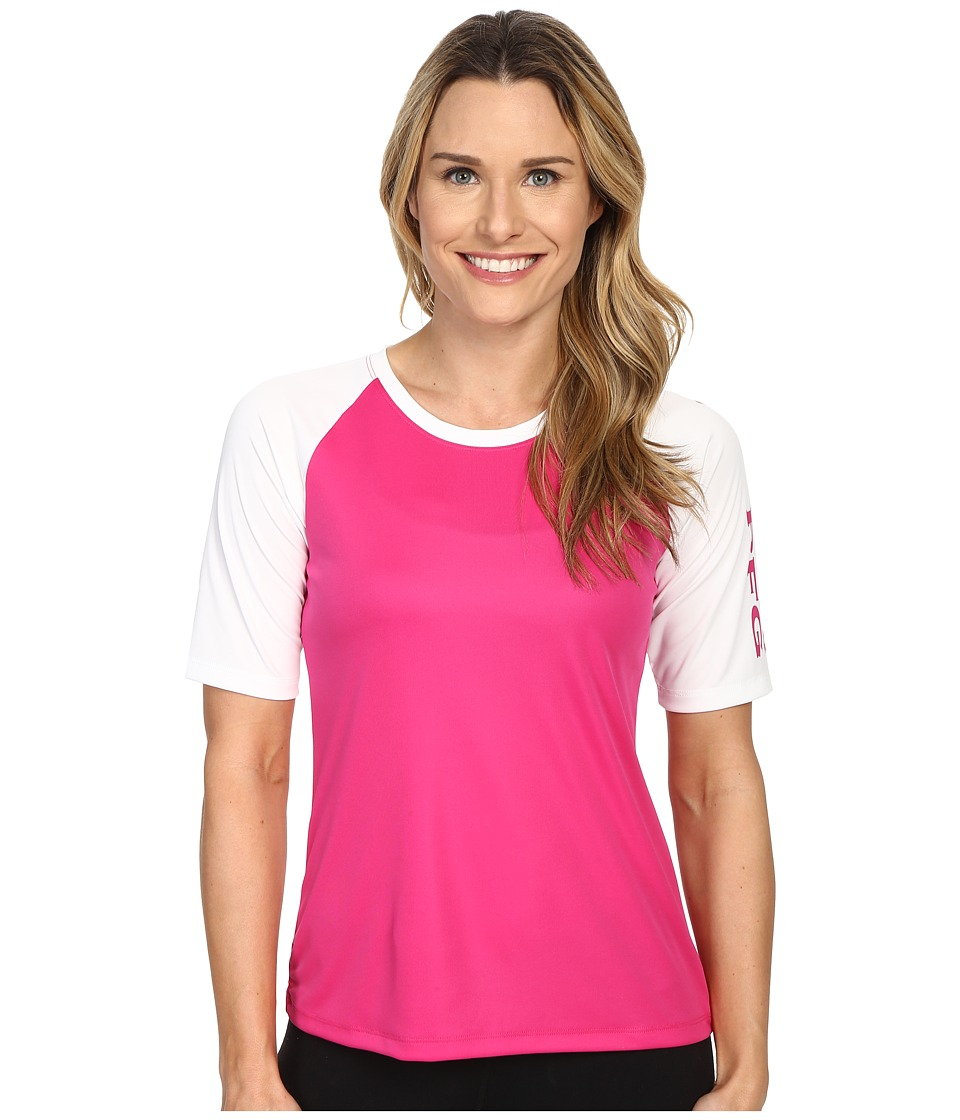 Columbia - Tidal Tee Short Sleeve Shirt (Haute Pink/White/Haute Pink) Women's Short Sleeve Pullover