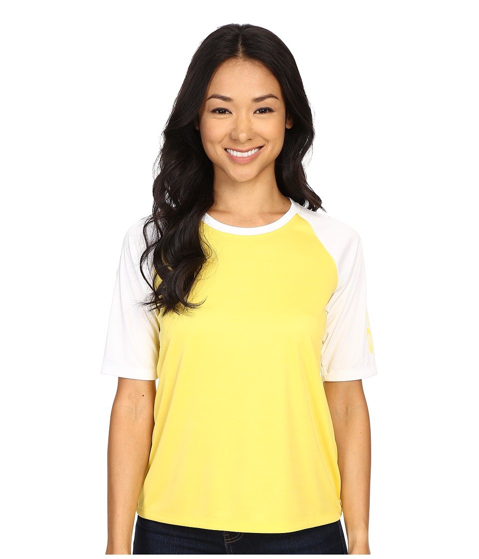 Columbia - Tidal Tee Short Sleeve Shirt (Buttercup/White/Buttercup) Women's Short Sleeve Pullover