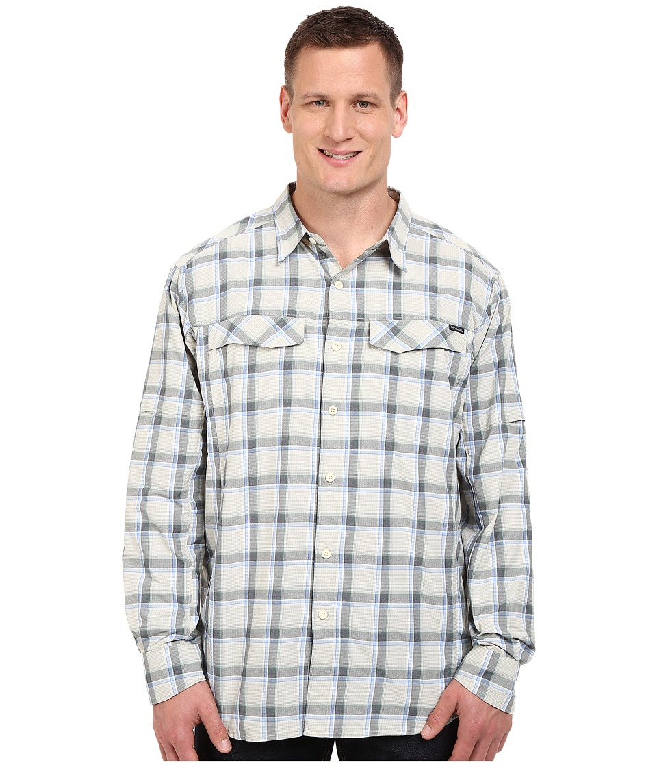 Columbia - Silver Ridge Plaid L/S - Tall (Stone Heather Plaid) Men's Long Sleeve Button Up