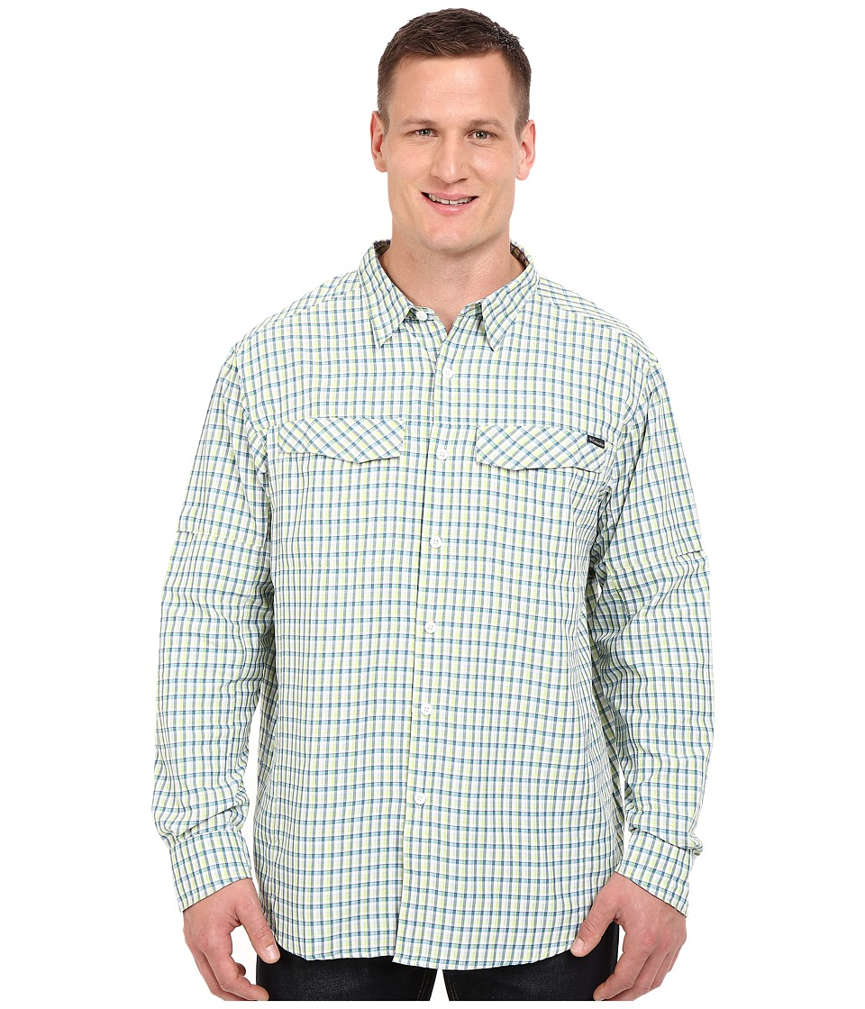 Columbia - Silver Ridge Plaid L/S - Tall (Napa Green Ripstop Plaid) Men's Long Sleeve Button Up