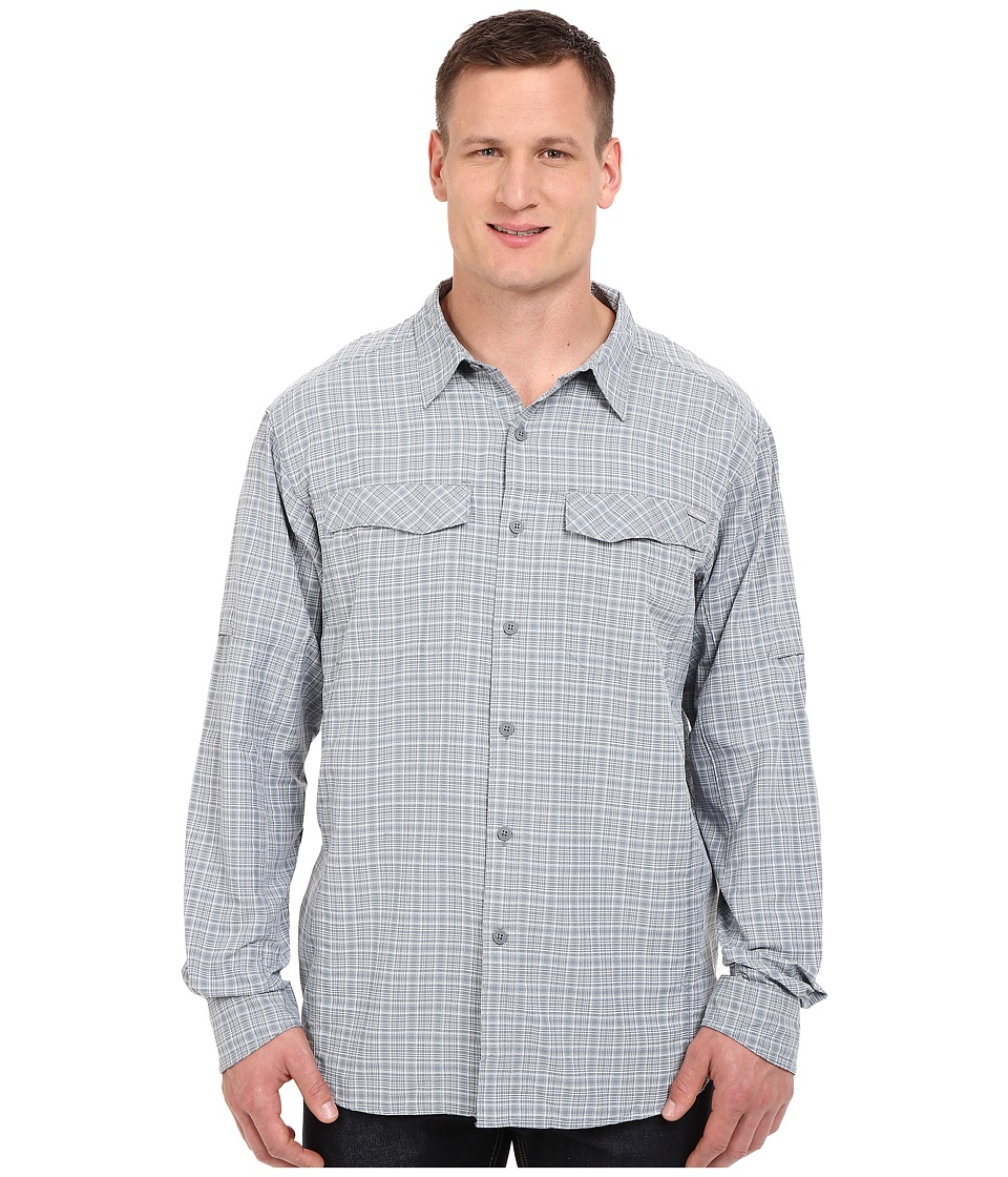 Columbia - Silver Ridge Plaid L/S - Tall (Grey Ash Dobby Plaid) Men's Long Sleeve Button Up