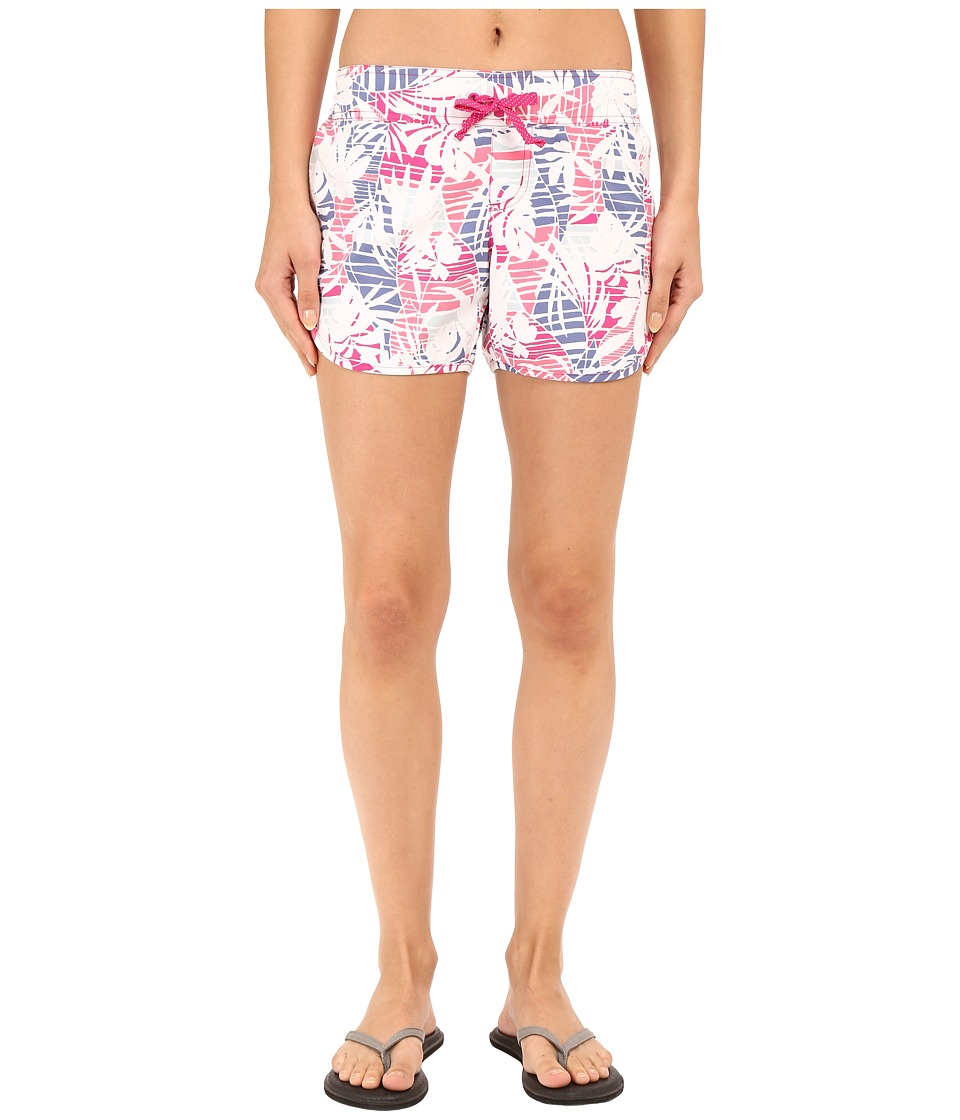 Columbia - Cool Coast II Shorts (Haute Pink Palm Print) Women's Shorts