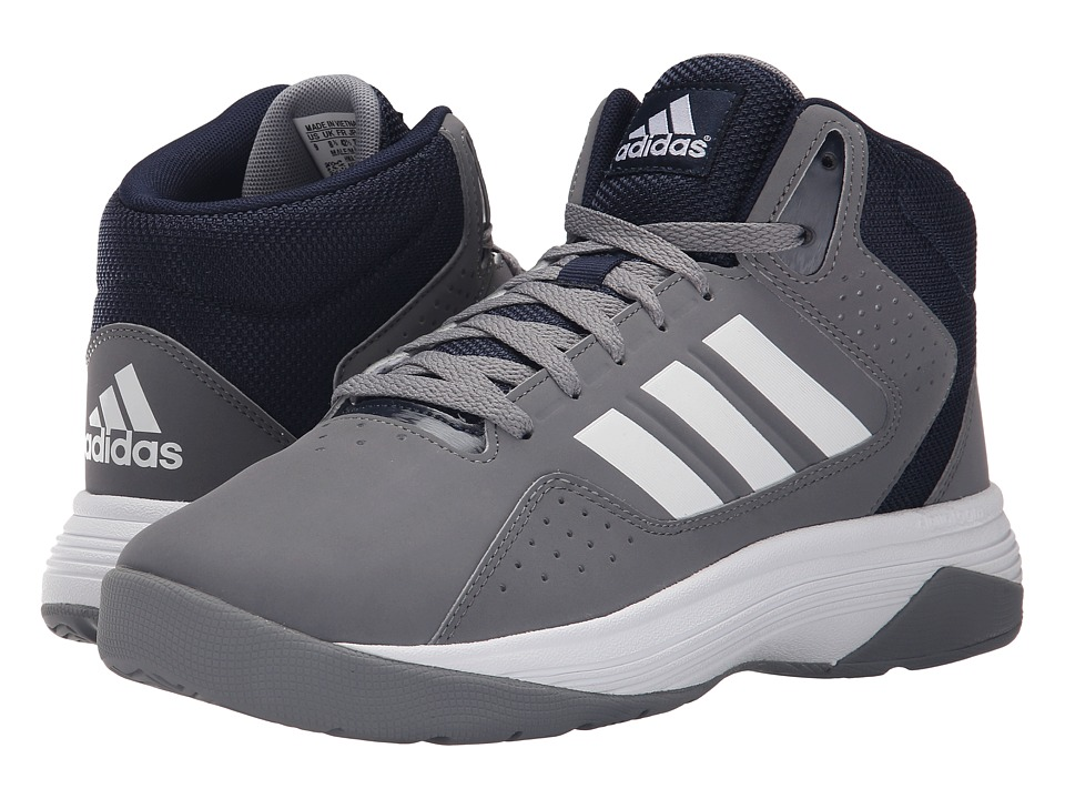 adidas - Cloudfoam Ilation Mid (Grey/White/Collegiate) Men's Basketball Shoes