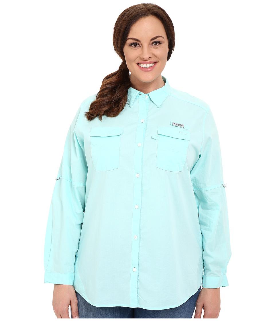 Columbia - Plus Size Bonehead II L/S Shirt (Ocean Water) Women's Long Sleeve Button Up