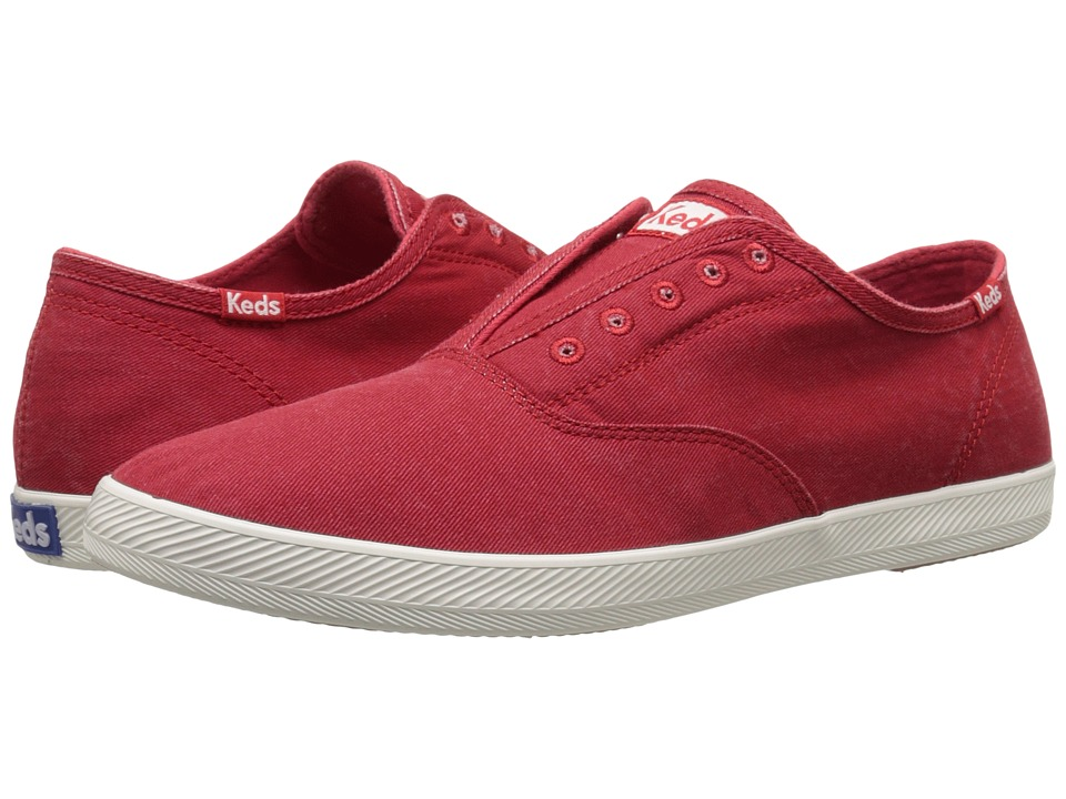 Keds Champion Chillax Washed Twill (Red) Men