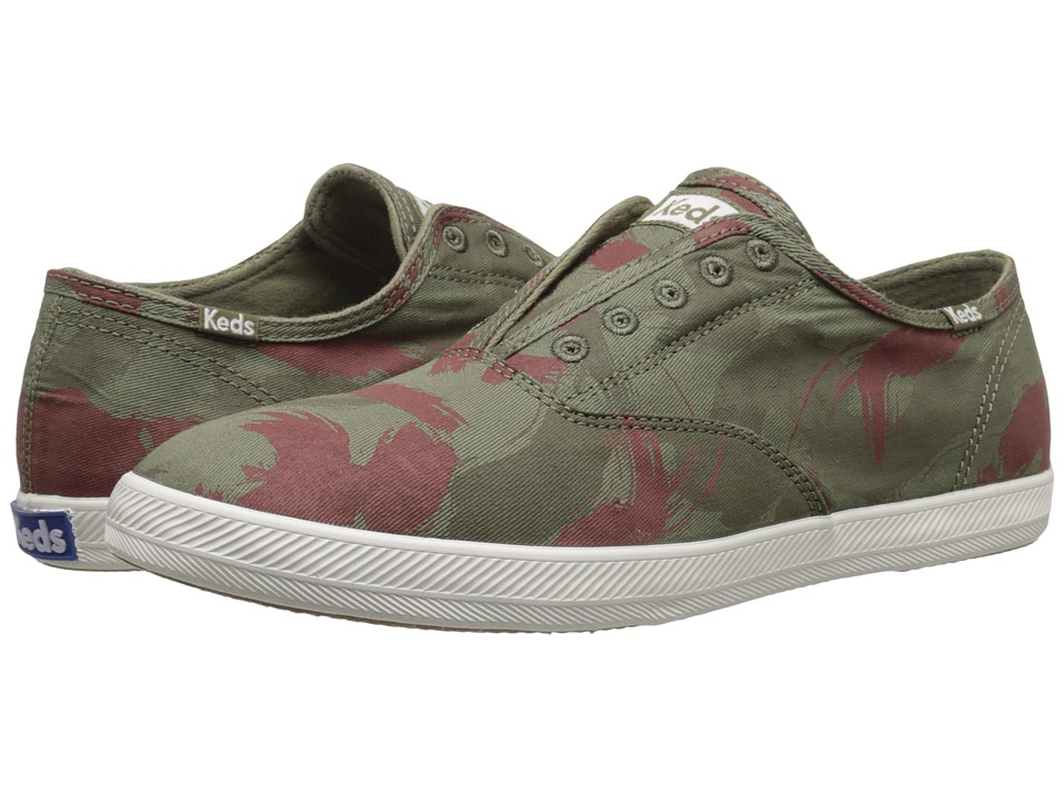 Keds Champion Chillax Washed Twill (Camo Green) Men
