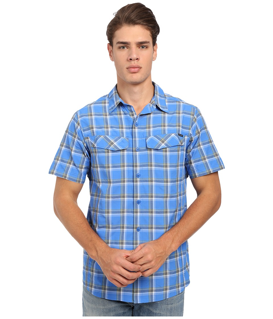 Columbia - Silver Ridge Multi Plaid S/S Shirt (Super Blue Heather Plaid) Men's Short Sleeve Button Up