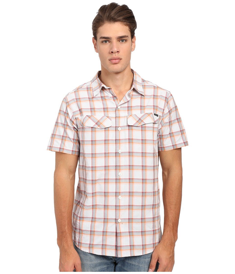 Columbia - Silver Ridge Multi Plaid S/S Shirt (Columbia Grey Heather Plaid) Men's Short Sleeve Button Up