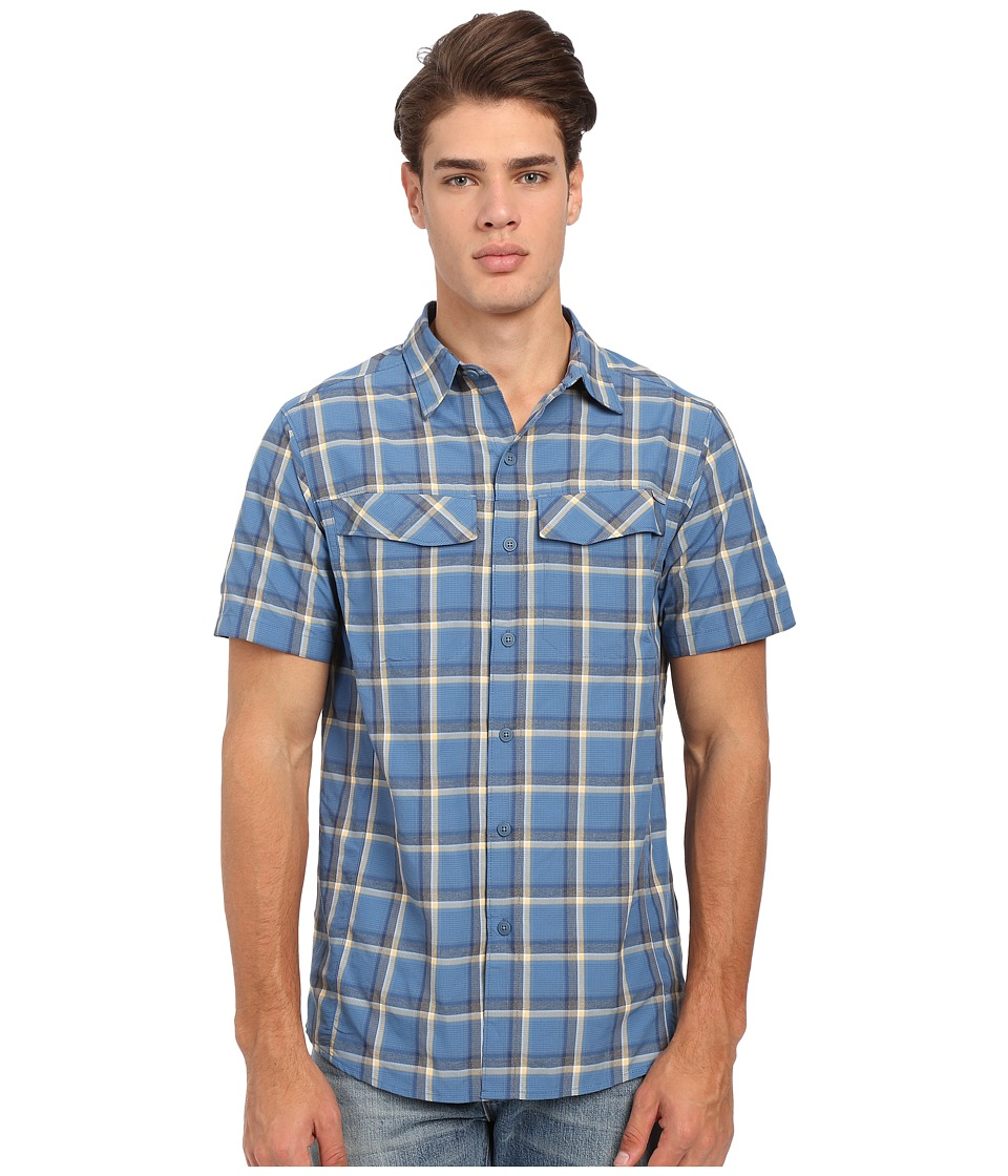 Columbia - Silver Ridge Multi Plaid S/S Shirt (Marine Blue Heather Plaid) Men's Short Sleeve Button Up