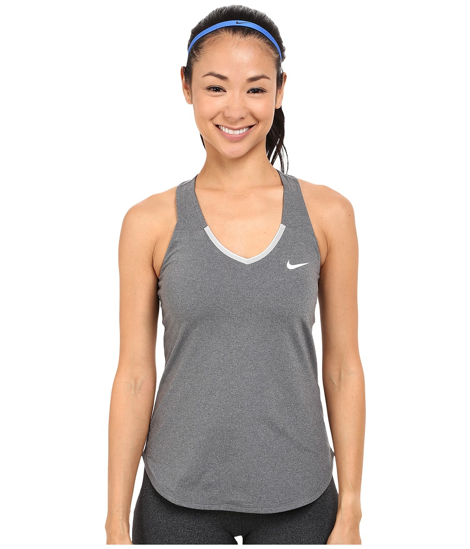 Nike - Court Team Pure Tennis Tank Top (Dark Grey/White) Women's Sleeveless