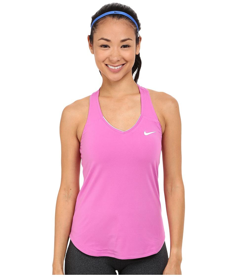 Nike - Court Team Pure Tennis Tank Top (Viola/White) Women's Sleeveless