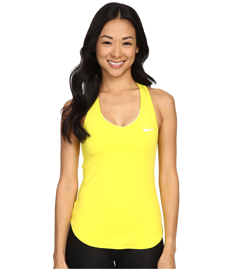 Nike - Court Team Pure Tennis Tank Top (Opti Yellow/White) Women's Sleeveless