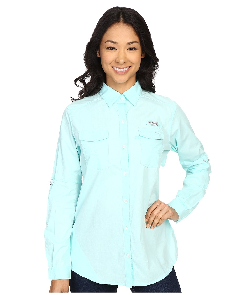 Columbia - Bonehead II L/S Shirt (Ocean Water) Women's Long Sleeve Button Up