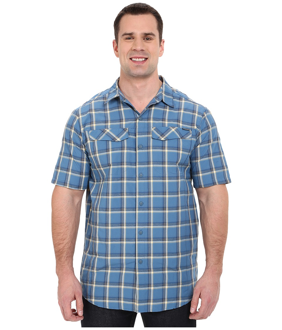 Columbia - Silver Ridge Multi Plaid S/S Shirt - Big (Marine Blue Heather Plaid) Men's Short Sleeve Button Up