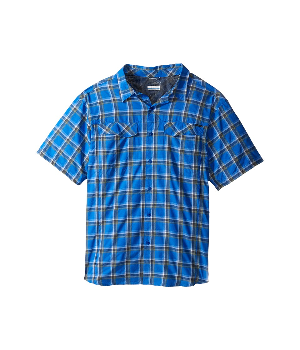 Columbia - Silver Ridge Multi Plaid S/S Shirt - Big (Super Blue Heather Plaid) Men's Short Sleeve Button Up