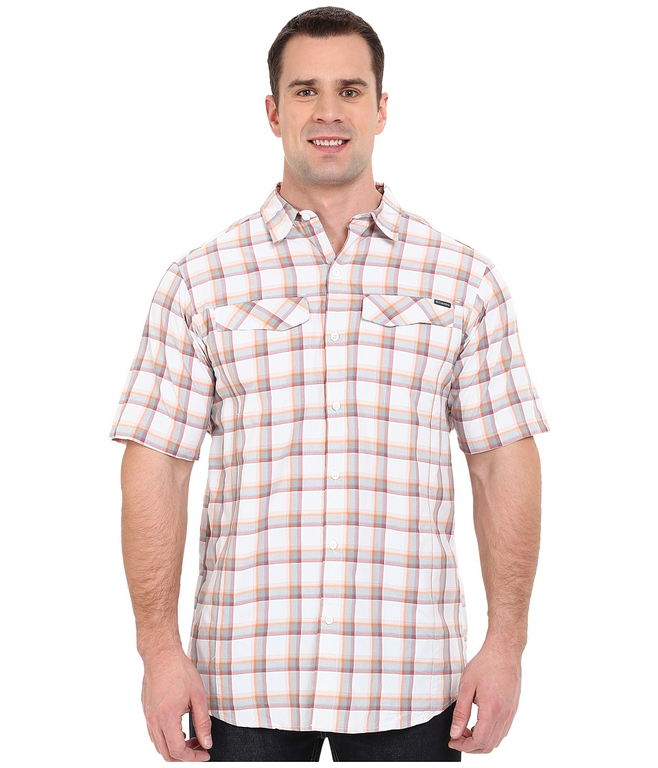 Columbia - Silver Ridge Multi Plaid S/S Shirt - Tall (Columbia Grey Heather Plaid) Men's Short Sleeve Button Up