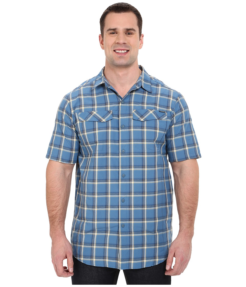 Columbia - Silver Ridge Multi Plaid S/S Shirt - Tall (Marine Blue Heather Plaid) Men's Short Sleeve Button Up