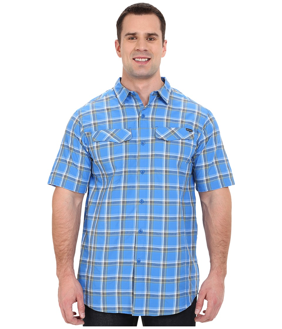 Columbia - Silver Ridge Multi Plaid S/S Shirt - Tall (Super Blue Heather Plaid) Men's Short Sleeve Button Up
