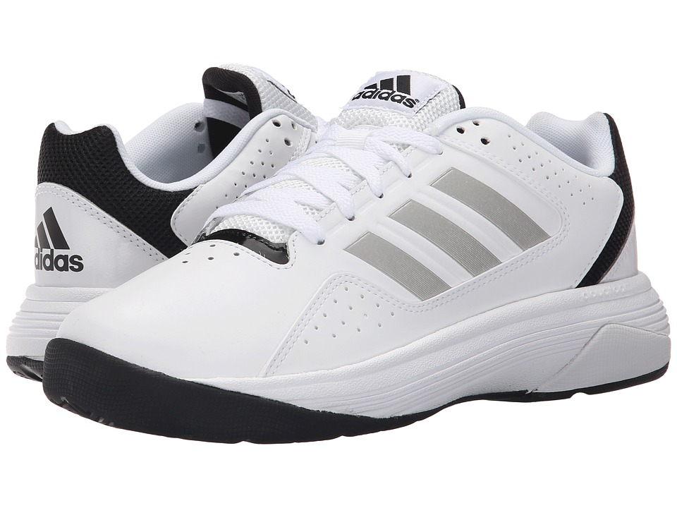 adidas - Cloudfoam Ilation (White/Matte Silver/Core Black) Men's Basketball Shoes