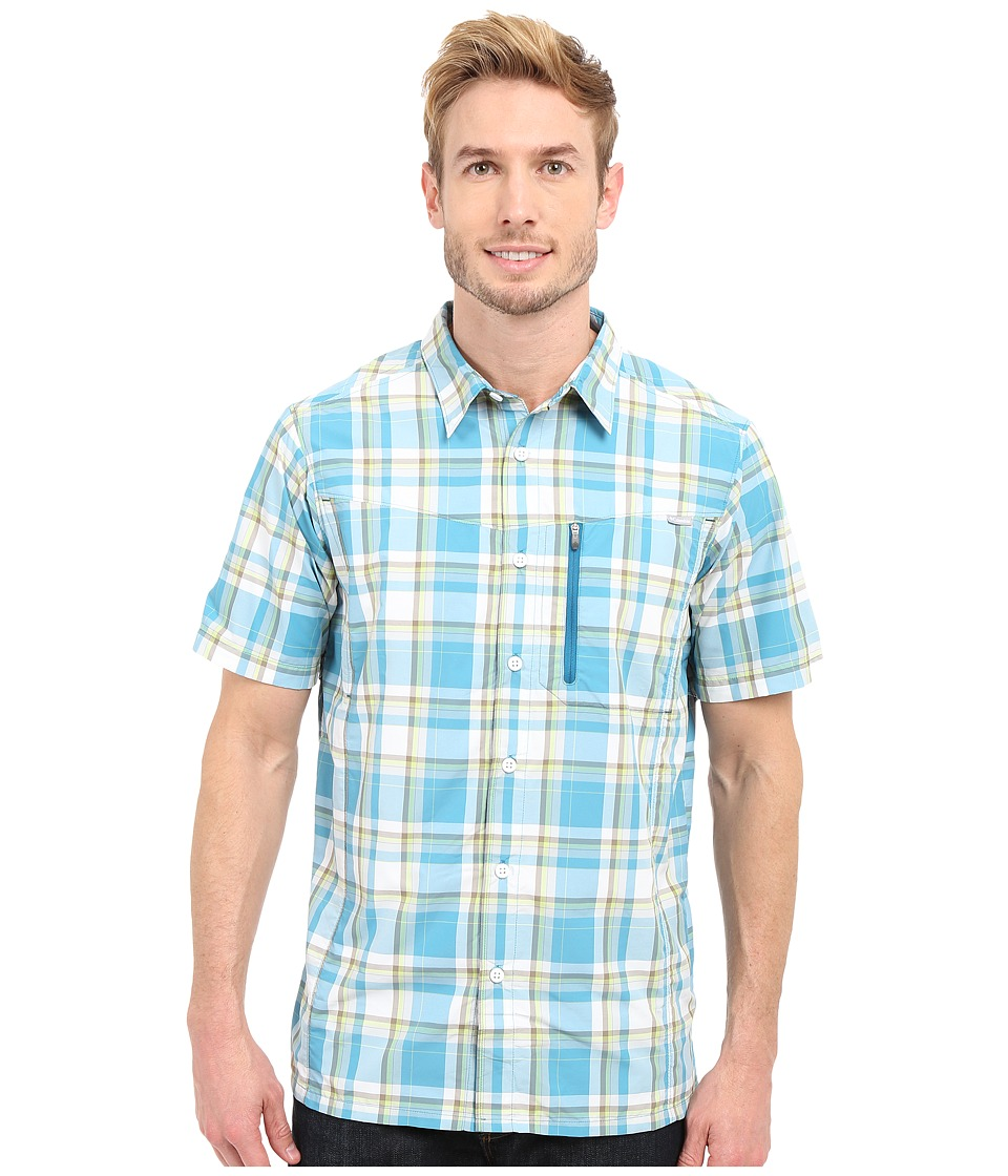 Columbia - Silver Ridge Plaid S/S Shirt (Dark Turquoise Plaid) Men's Short Sleeve Button Up