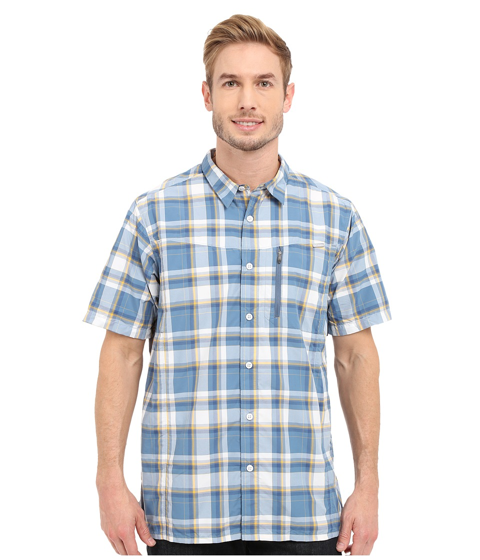 Columbia - Silver Ridge Plaid S/S Shirt (Steel Plaid) Men's Short Sleeve Button Up